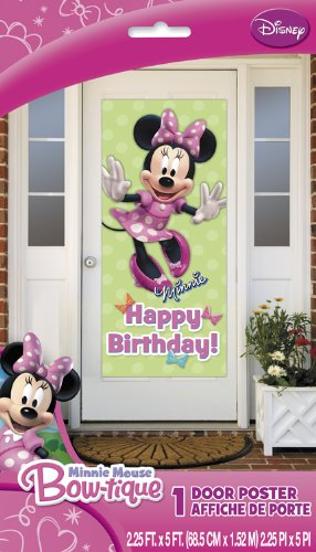 Minnie Mouse Happy Birthday Wall Door Decoration 27″ X 60″ Poster New, Health Care Stuffs