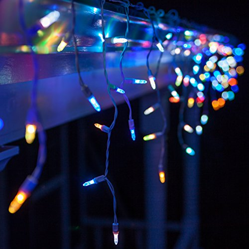 Color Changing Led Icicle Christmas Lights in US - 1