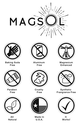 Rose Magnesium Deodorant - Aluminum Free, Baking Soda Free, Alcohol Free, Cruelty Free, Sensitive Skin, All Natural, For Women Men Boys Girls Kids, Magnesium Deodorant 2.8 oz (Lasts over 4 months) by MagSol Organics (Image #2)
