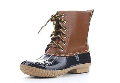 Amazon.com: Smapavic Botas de pato para mujer, botas de ...