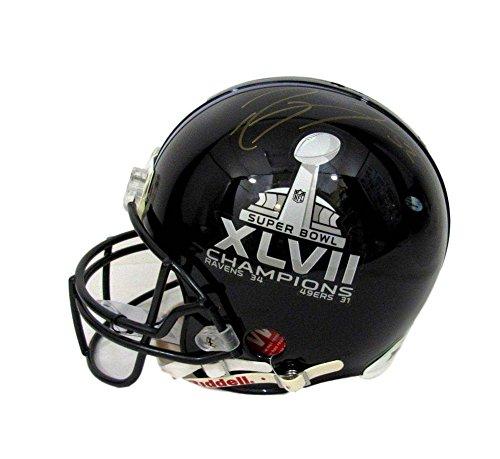 Autographed Ray Lewis Ravens Signed Super Bowl Xlvii Full Size Proline Helmet - PSA/DNA (Autographed Ravens Pro Line Helmet)