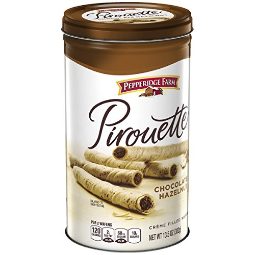 - Pepperidge Farm, Pirouettes, Cookies, Chocolate Hazelnut, 13.5 oz, Tin
