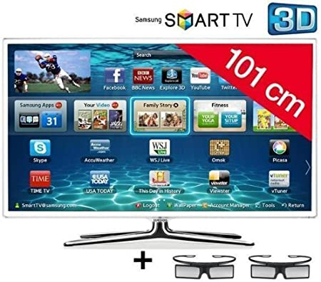 Samsung televisor LED Smart TV 3d UE40ES6710 HD TV 1080p, 40 Pulgadas (101 cm) 16/9, 400 Hz, DVB-T HD, 3d Ready, Ethernet, HDMI X3, Time Shift, USB 2.0 X3, con WiFi +