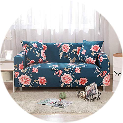 New face Leaves Spandex Sofa Cover Elastic Protector Sofa Slipcovers for Armchairs Stretch Sofa Covers for Living Room 1-4 Seater,Color 1,1-Seater90-140cm