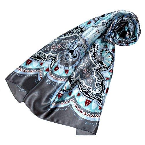 LORENZO CANA Italian Scarf 100% Silk Shawl 35x35