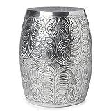 Handmade Shiney Silver Polished Stool (India) AL-14883