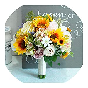 Wedding Bouquet Bride Holding Flowers Wedding Flower Sunflower Studio Props Wedding Bouquet 15