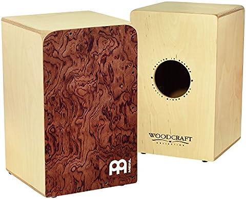 Meinl Percussion WCAJ300NT-BU Birch Woodcraft Snare Cajon, Bubinga Frontplate