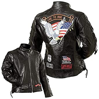 Diamond Plate Ladies' Rock Design Genuine Buffalo Leather ...