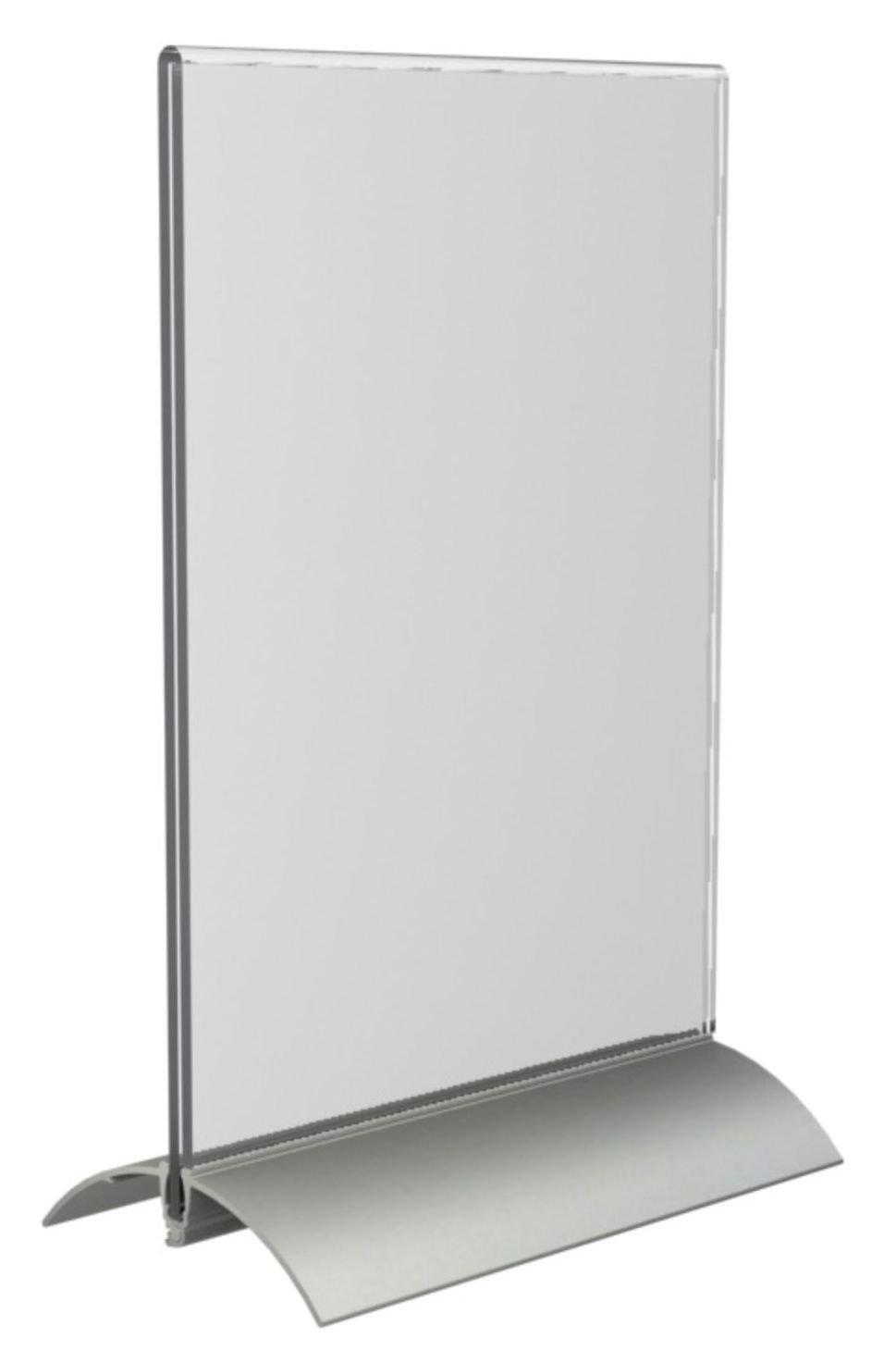 OPUS 2 Pr/ésentoir de table 350061 A5 acrylique transparent Vertical Profil/é Aluminium