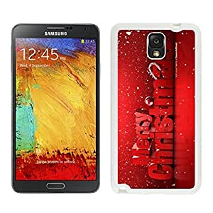 Galaxy Note 3 Case,Red Merry Christmas With Snowflakes Black TPU Note 3 Case-Christmas Series Samsung Note 3 Case