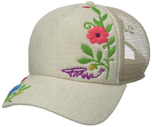 prAna Men's Embroidered Trucker Cap, One Size, Sand