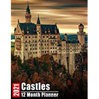 Image for 2021 Planner 12 Months Castles: 2021 Academic Monthly Calendar, Daily Schedule, Important Times, Habit & Health Tracker and Top Goals all in One! With ... Images and Inspirational Quote each Month