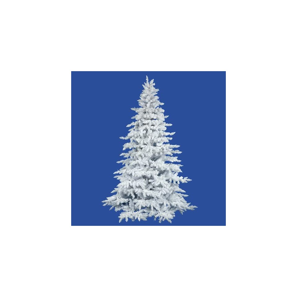 10 Flocked White Spruce Full Artificial Christmas Tree   Unlit