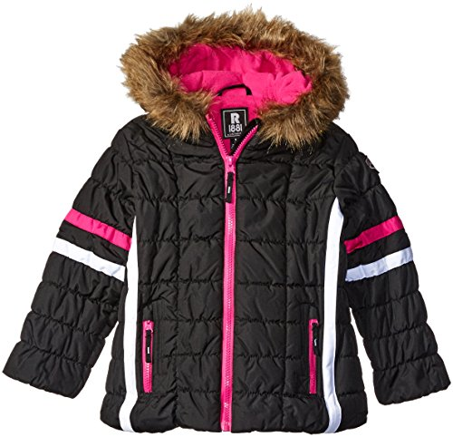 Rothschild Little Girls' Active Bubble Jacket, Black, 4