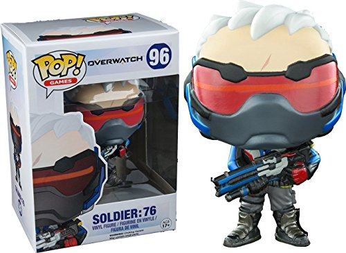 Funko Pop! Overwatch #96 Soldier: 76 authentic with game