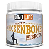 LonoLife Chicken Bone Broth Powder with 10g Protein, 8-Ounce Bulk Container