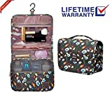 Toiletry bag Travel Organizer Cosmetic Bag makeup bag hanging Waterproof compartments Portable Travel vacation for Women Men girls boys kids (Toiletry bag-04)
