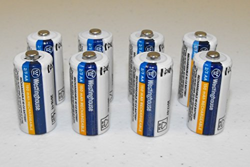 - 8X 2/3 AA NI-Cd Battery Rechargeable 1.2 V Volt 150 mAh Batteries Chargeable pcs