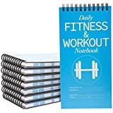 Juvale 12-Pack Daily Fitness Workout Planner Tracker Journal Notebook, 8 x 4 Inches