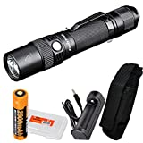 x1 org - Fenix FD30 900 Lumen Zoomable Rechargeable Tactical LED Flashlight with Fenix 18650 Battery, ARE-X1 Charger and LumenTac Battery Organizer