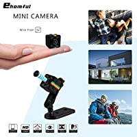 Ehomful Mini Spy Hidden Camera Wireless, 15/16-inch Metal Finish 1080p HD, 6 Invisible Lights for Night Vision and Motion Activated, Date & Time Stamping.
