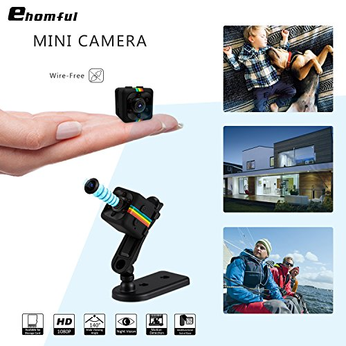 Ehomful Mini Spy Hidden Camera Wireless, 15/16-inch Metal Finish 1080p HD, 6 Invisible Lights for Night Vision and Motion Activated, Date & Time (0.05 Lb Light)
