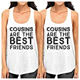 365 Printing Cousins The Best Friends Black Family Matching Funny Graphic Tanks