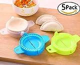 DC-BEAUTIFUL 5 Packs Dumpling Mold Turnover Ravioli Empanada Dough Press Mould Maker New Random