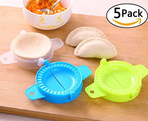 DC-BEAUTIFUL 5 Packs Dumpling Mold Turnover Ravioli Empanada Dough Press Mould Maker New Random by DC-BEAUTIFUL