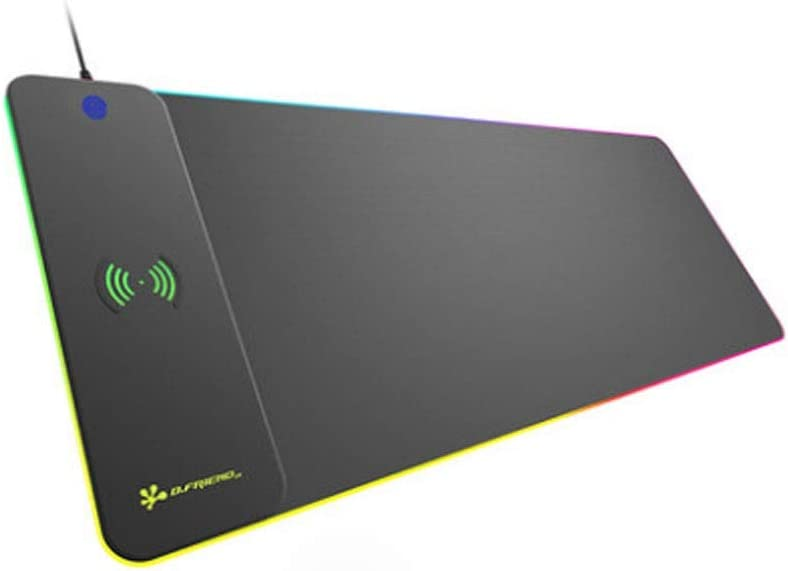 Waterproof, Mouse Pad Color : Black Side Bar with LED Colorful Light Black, 30100.9cm//1240.36 Inches Enlarged Mouse Pad Creative Mouse Pad with Wireless Charging Device