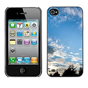 Print Motif Coque de protection Case Cover // M00157009 El cielo se nubla West Nature Blue View // Apple iPhone 4 4S 4G