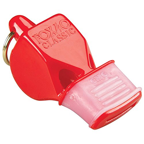 Fox 40 CMG Whistle with Cushioned Mouth Grip, Red