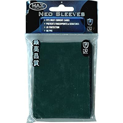 Max Protection Flat Standard Gaming Card Sleeves, Flat Emerald Green, 50 Count: Toys & Games