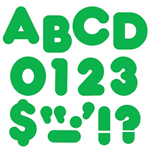 "TREND enterprises, Inc. Green 2"" Casual Uppercase Ready Letters -  T-437"