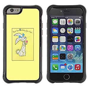 Suave TPU Caso Carcasa de Caucho Funda para Apple Iphone 6 PLUS 5.5 / Easter Bunny Holidays Rabbit / STRONG