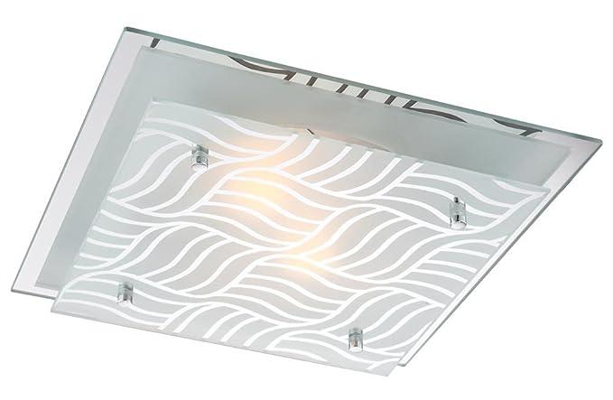Plafoniere Con Lampade Led E27 : Globo e illu plafoniera in metallo cromato marie con