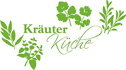 GRAZDesign Küchendeko Dekorfolie Kräuter Küche - Wandgestaltung Küche  Küchensprüche - Wandtattoo Küche Gewürze / 72x40cm / 063 lindgrün