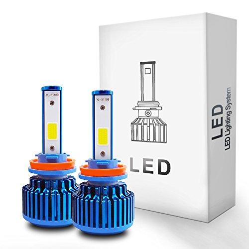 Autolizer LED Headlight Conversion Kit - H11 (H8/H9/H11B) - COB 2-Sided - 52W, 5000LM 6000K Cool White