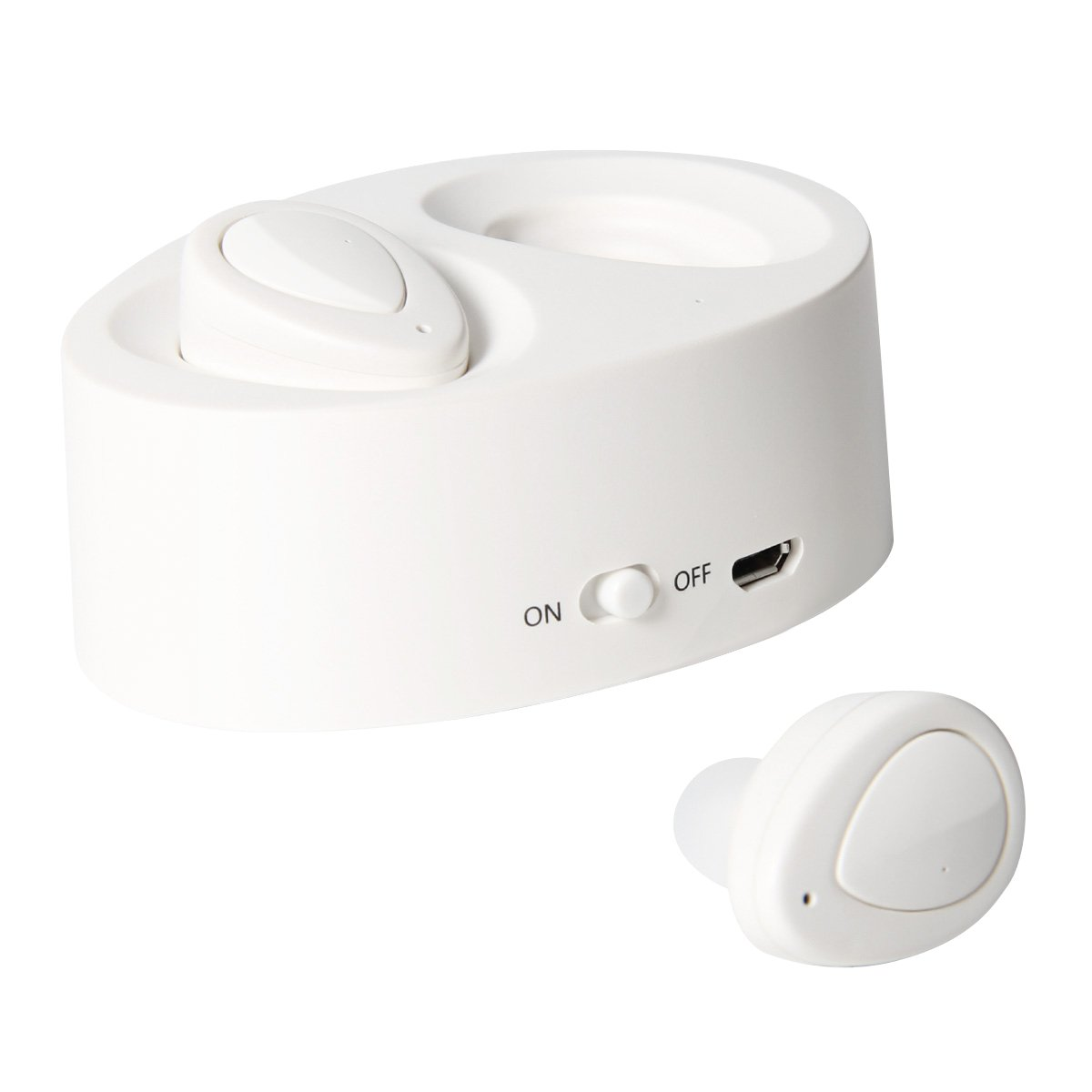 Wireless Bluetooth Earbuds with Mic Mini In-Ear Headset Headphones for iphone and android (WHITE) Ahead .