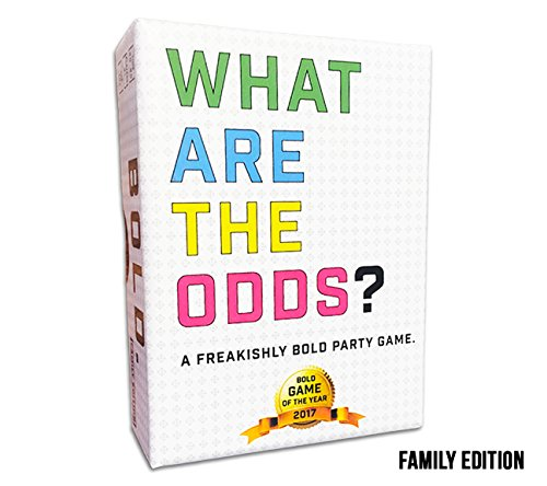 What are The Odds? Family Edition Best Card Game for Family, Friends, and Large Parties. Ages 7 Years and Up. Fun at Birthday Parties and Events. 2-20 Players or More!