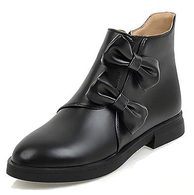 7207a9db03b Amazon.com | Girl's Women's Cute Comfy Round Toe Short Boots Inside ...