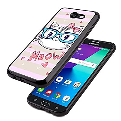 Glossy Black TPU Case Samsung Galaxy J7 2017 USA #SF2qd