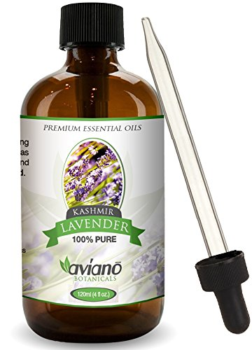 Diamond Oil Candle (Kashmir Lavender Essential Oil - 100% Pure & Undiluted - Blue Diamond Therapeutic Grade By Aviano Botanicals (4 Ounce Bottle))