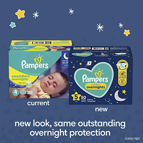 Pampers Diapers Size 3, 66 Count - Swaddlers Overnights 3 (66 Count)