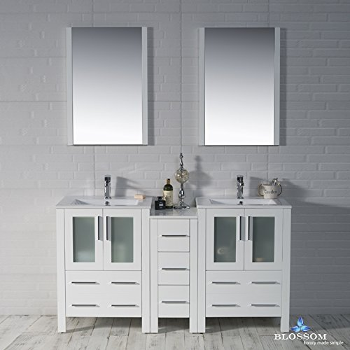 BLOSSOM-001-60-01-D-Sydney-60-Double-Vanity-Set-with-Mirrors-Glossy-White