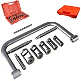 New 10 PCs Heavy Duty 5 Sizes Valve Spring Compressor C Clamp Service Kit Auto Motorcycle ATV Small Engine with Carry Bo