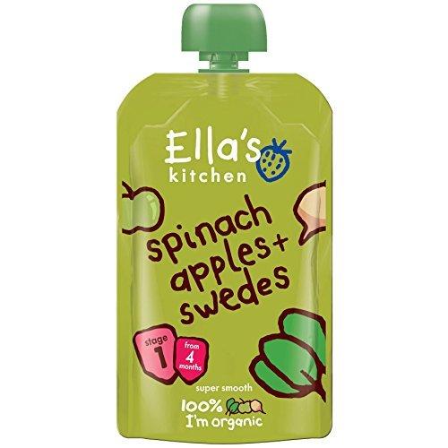 - Ellas Kitchen - S1 Spinach Apples & Swedes   120g   BUNDLE by ELLA'S KITCHEN (VEGETARIAN)