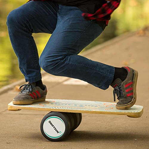 Driftsun Wooden Balance Board - Premium Balance Trainer with Roller for Surf, SUP, Wakesurf, Wakeskate, Ski, Snowboard and Skateboarding. by Driftsun (Image #3)