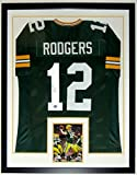 Aaron Rodgers Signed Green Bay Packers Jersey - Authenticated by AAA COA - Framed & 8x10 Photo 34x42